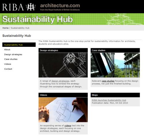 RIBA Sustainability Hub